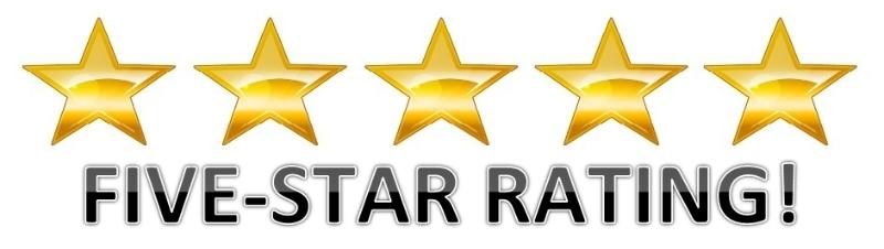 5 Star Ratings & Reviews