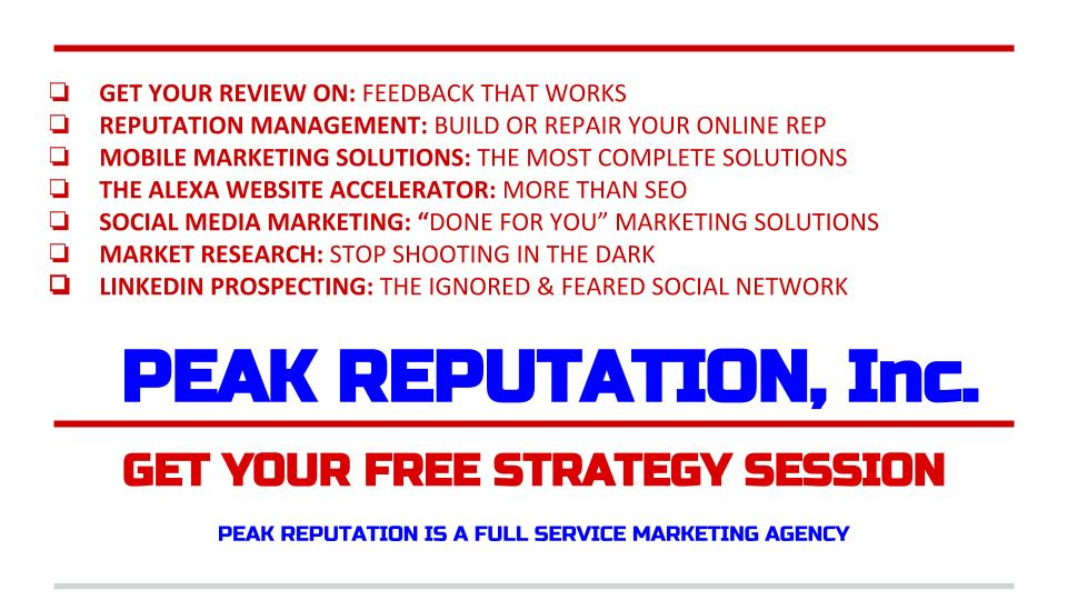 Peak Reputation - Full Service Marketing Agency
